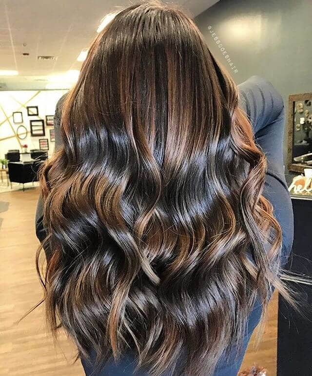 Ultra Shiny Curls With Chocolate And Caramel Tones