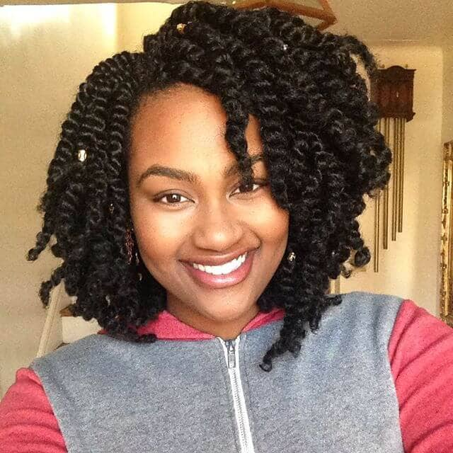 Short Twists Braids Bob with Kinky Hair