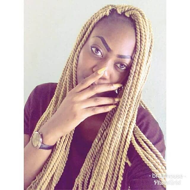 Long Blonde Kinky Twists with Marley Hair