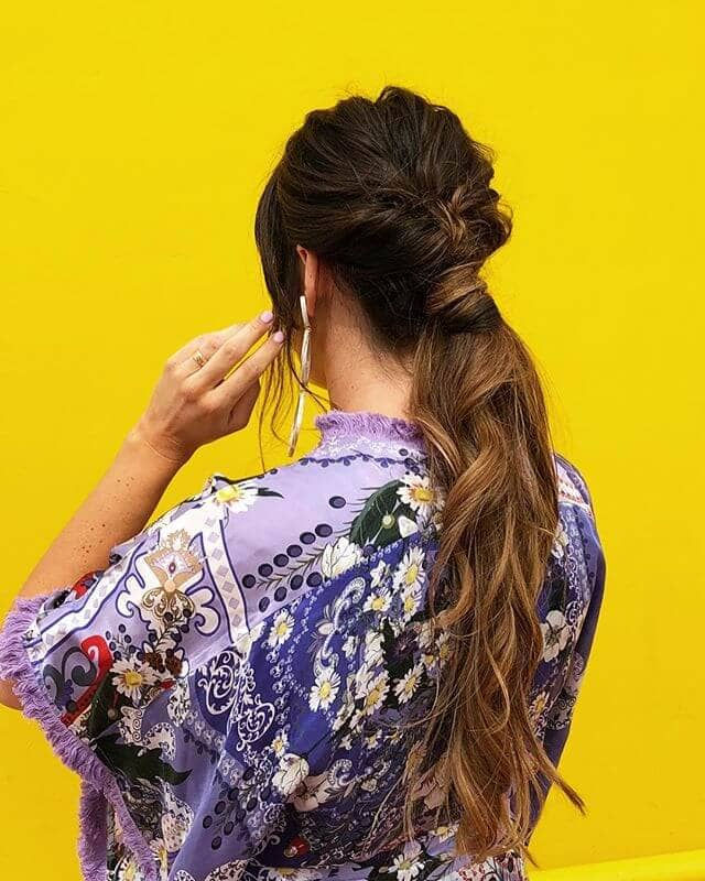Perfectly Flipped Wrap Around Ponytail