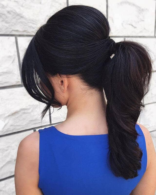 Hair Bump High Ponytail Hairstyle