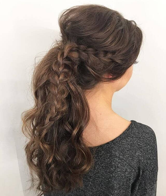 Beautiful Braid Accent Ponytail Hairstyle