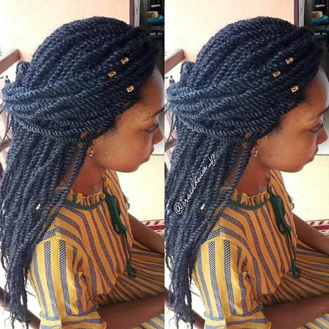 Beaded Half Up Half Down Twists