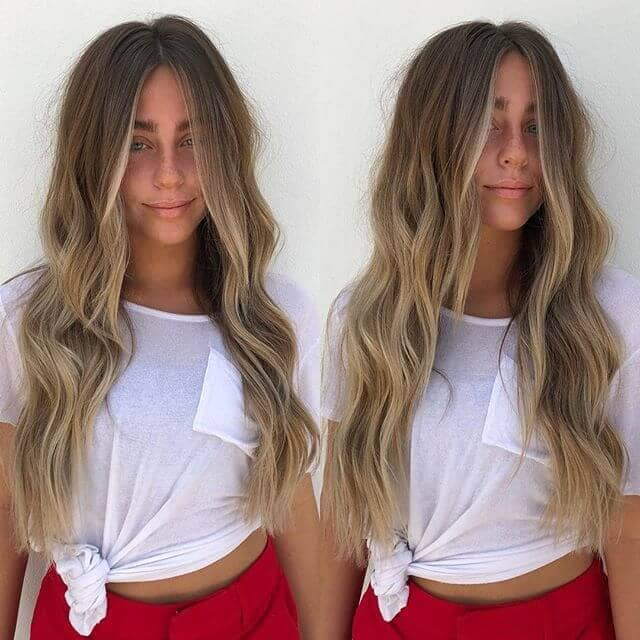 Messy Modern Beach Waves for Long Hair