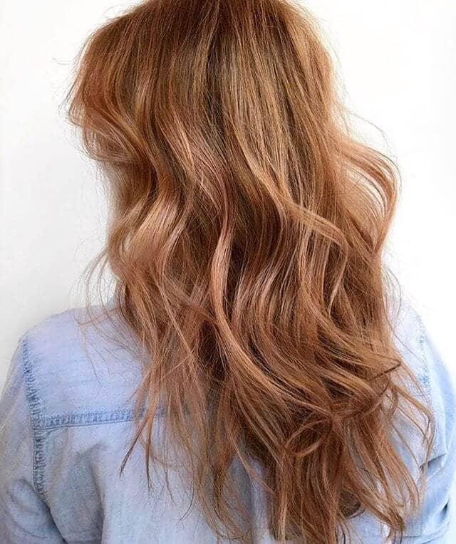 Awesome Light Caramel Shag with Wavy Tips