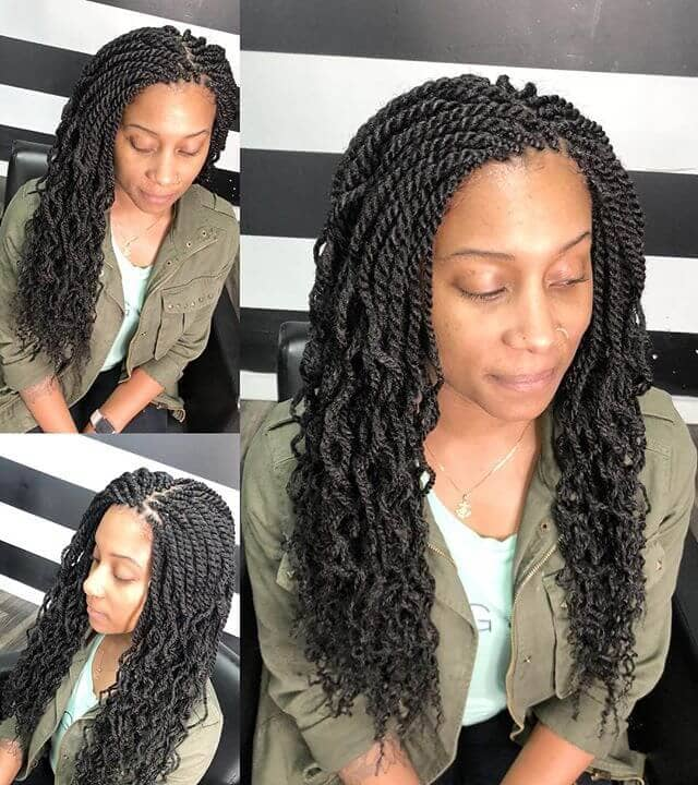 Crochet Twists with Wavy Ends