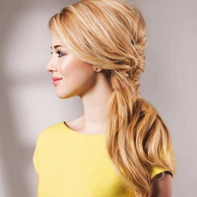 Partial Braid Side Pony Hairstyles