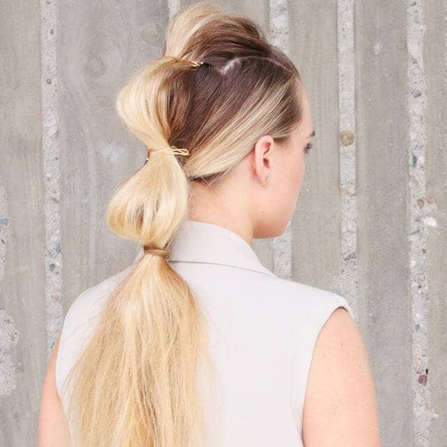 Segmented Ponytail with Hair pins