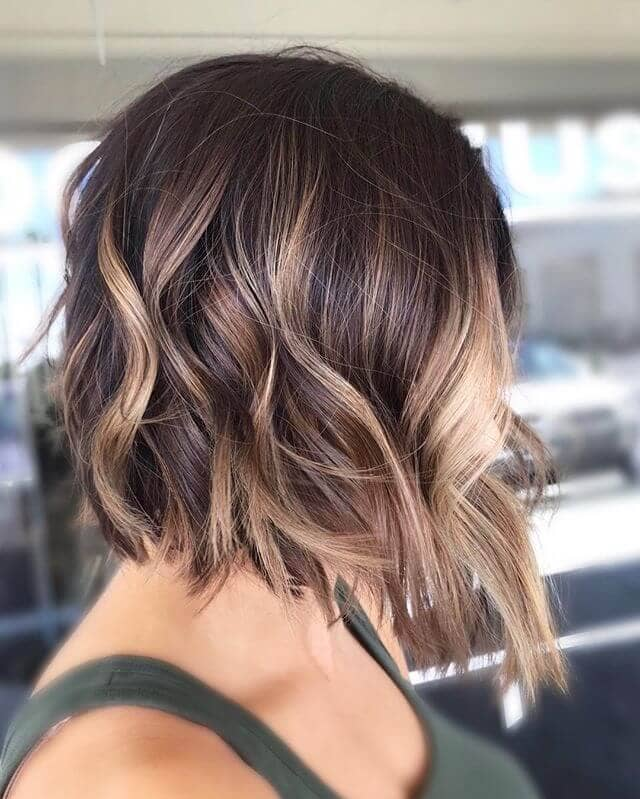 Bob Cut With Rose And Blonde Highlights