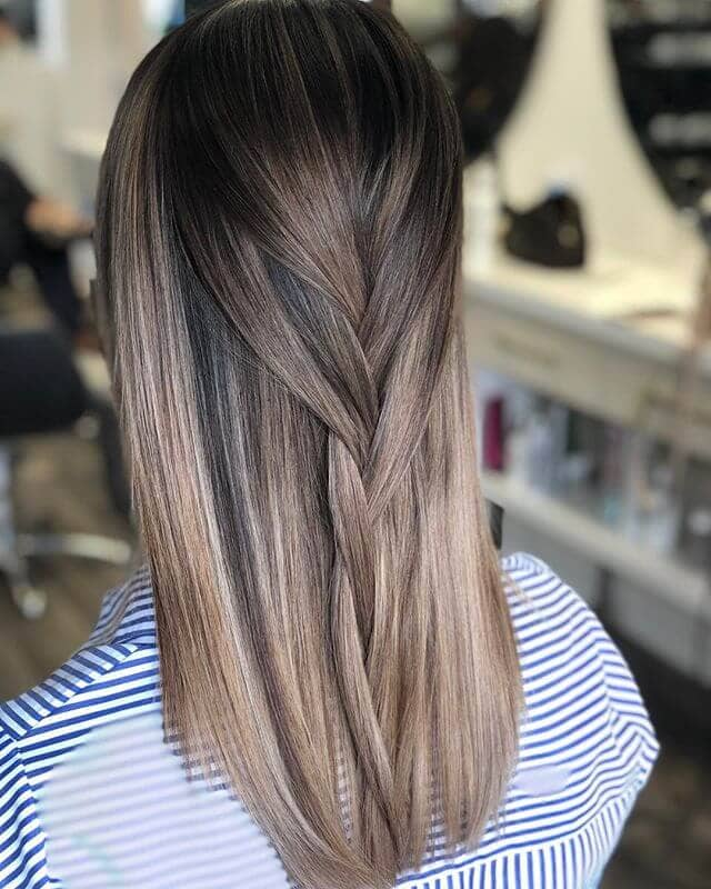 Loose, Sleek Half-Braid For Straight Hair