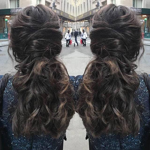 Folded Hair Wrap Ponytail Style
