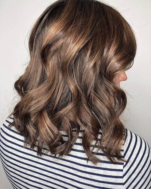 Brown Beachy Waves with Subtle Highlights