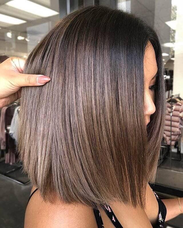 Glamorous Shimmery Short Bob Hairstyle