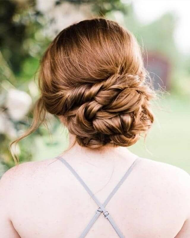 Flattering Light Caramel Braided Bun