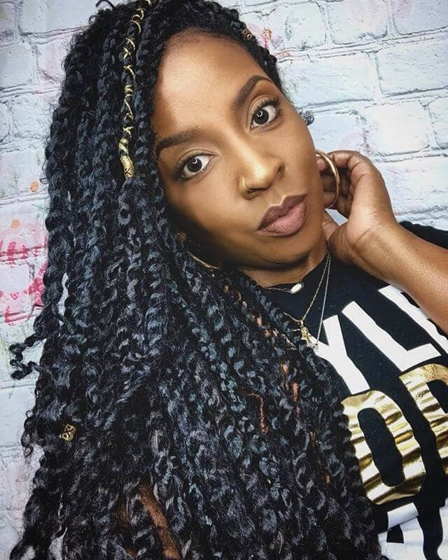 Chunky and Curly Kinky Twists