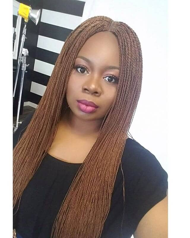 Long Honey Blonde Mini Twists