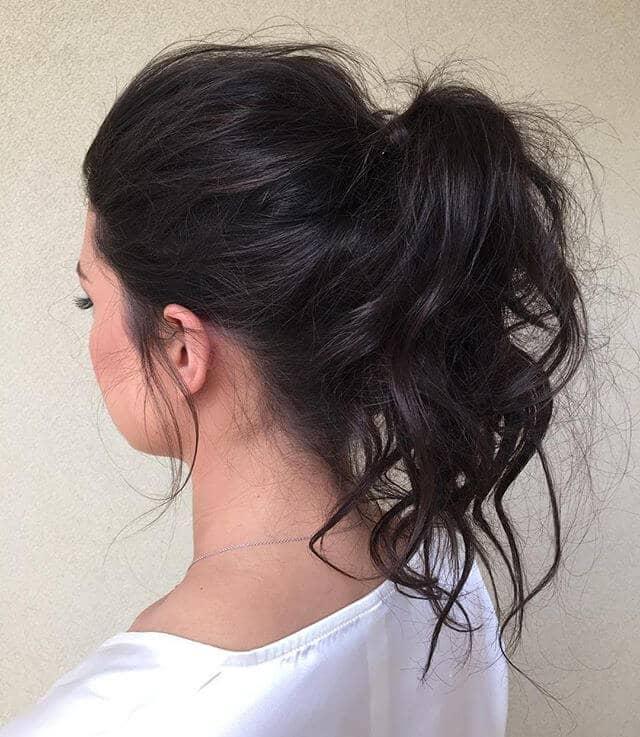 Хвост высокой арки для тонких волос