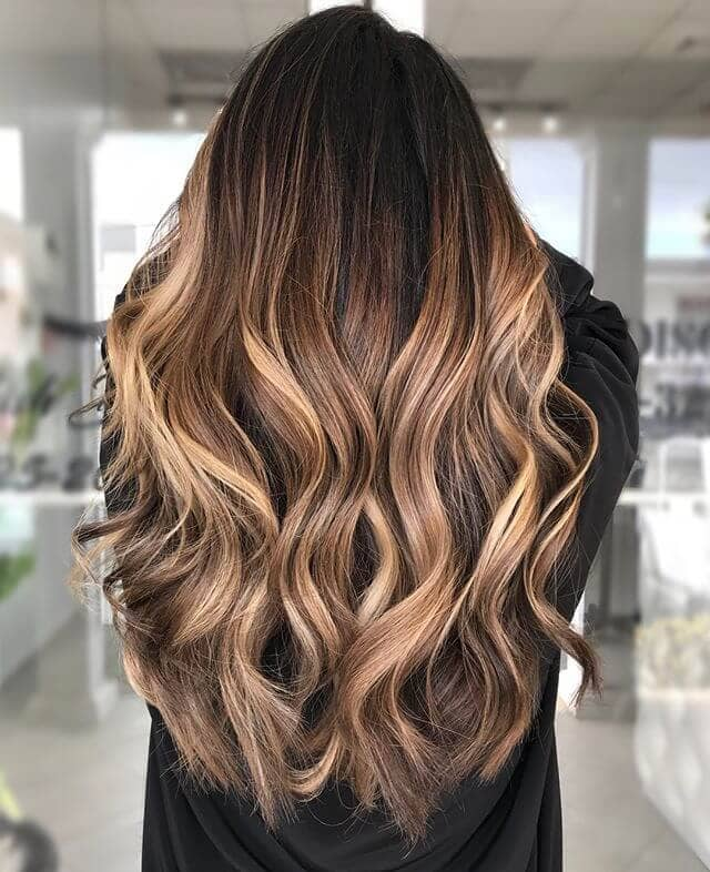 Layered Highlights With Curly Tips
