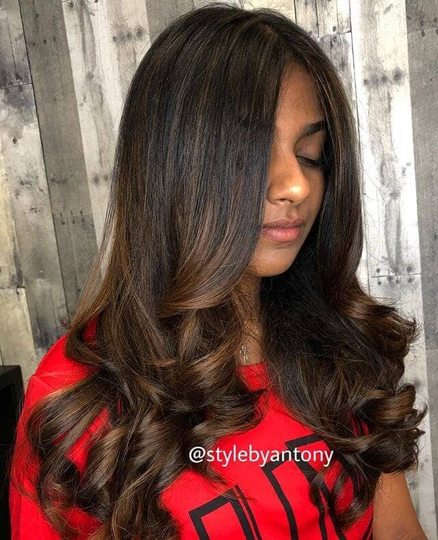 Versatile, Long Layers With Carefully Curled Ends