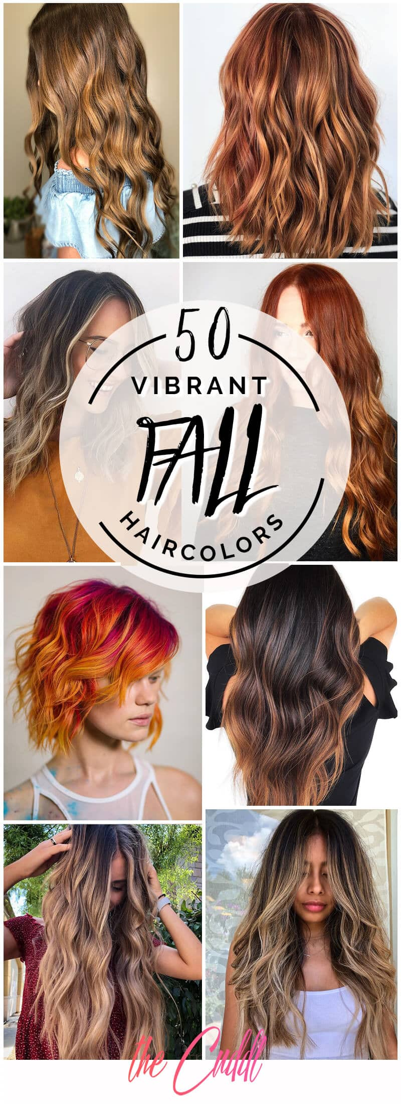 50 Vibrant Fall Hair Color Ideas To Accent Your New