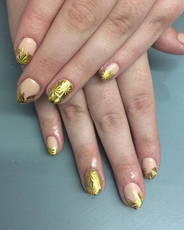 Gorgeous Golden Multi-Sized Foils