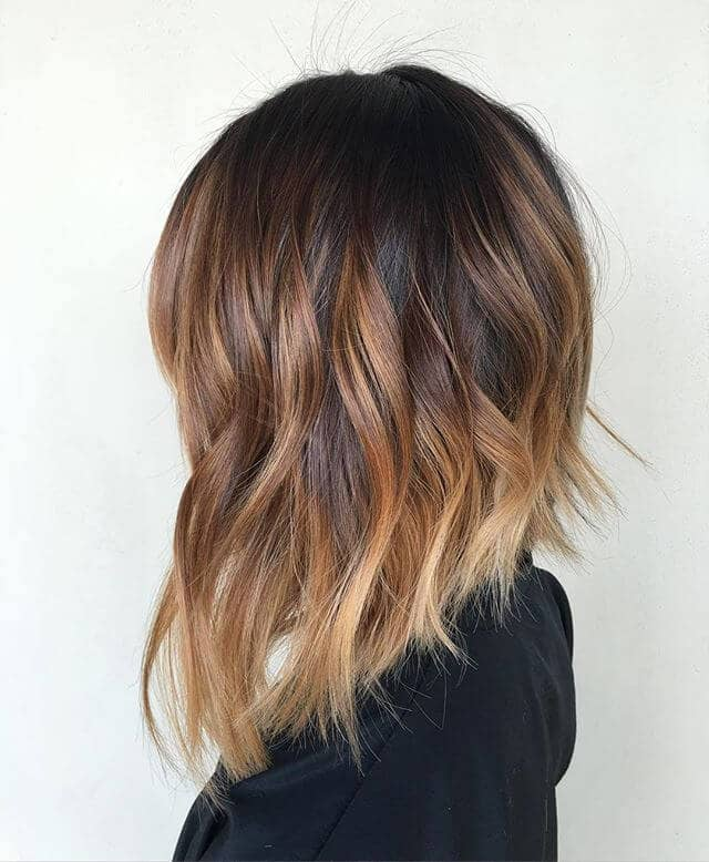 Texturized Long Bob with Highlighted Tips