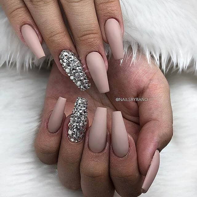 Matte Nail Design with a Bold Accent