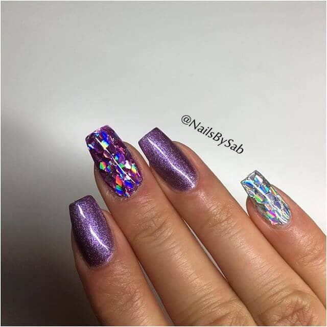 Glamorous Purple Sparkles with Iridescent Highlights
