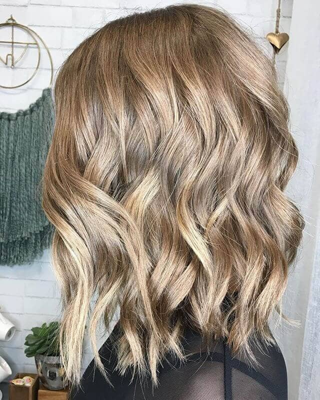 Simple and Curled Long Bob