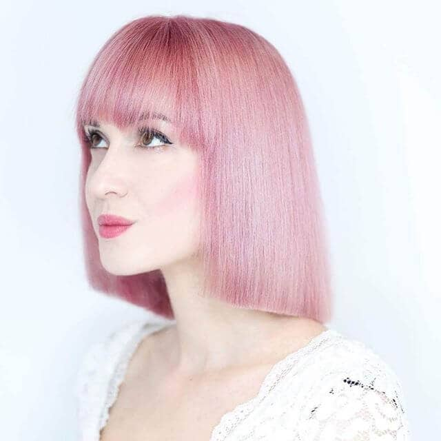 Simple, Sweet and Short Pink Hair