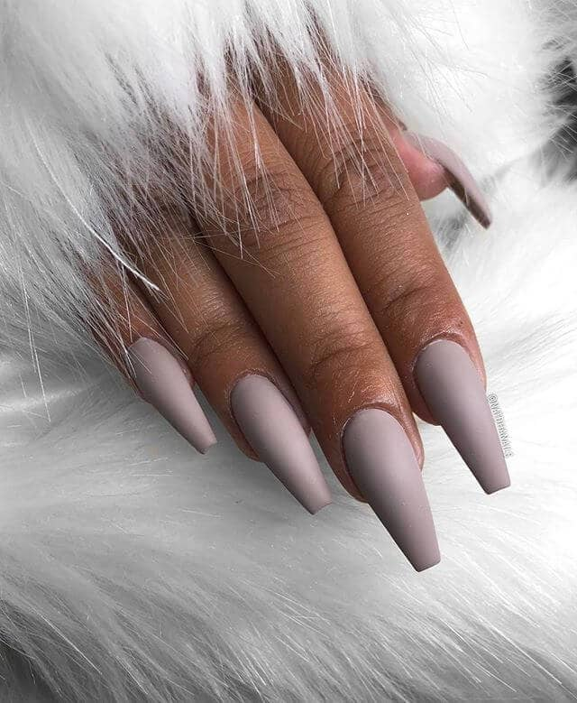 Purple Nails for Dark Skin Tones Nude Nail Ideas