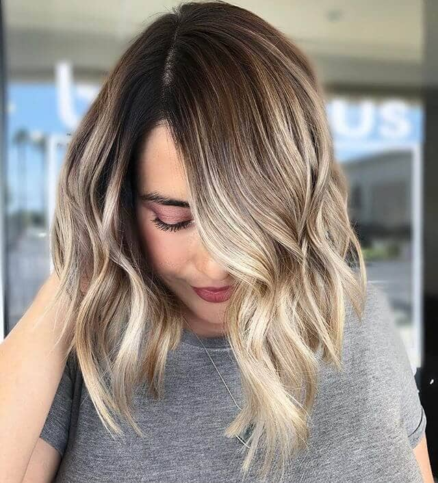 Wavy Long Bob with a Deep Side Part