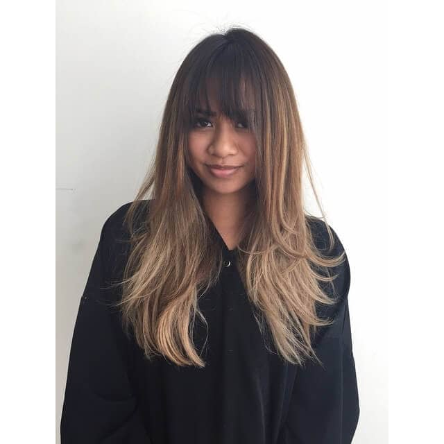 Beautiful Bangs + Highlighted Hair = Lovely Look