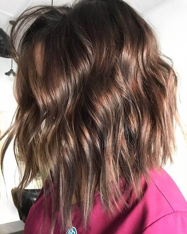 Crimped Long Bob with Face Framing Layers