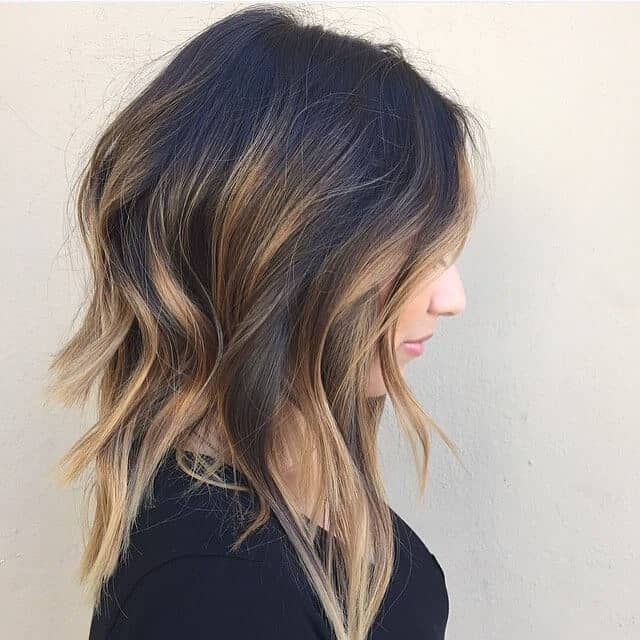 Long Bob with Short Layers and Highlights