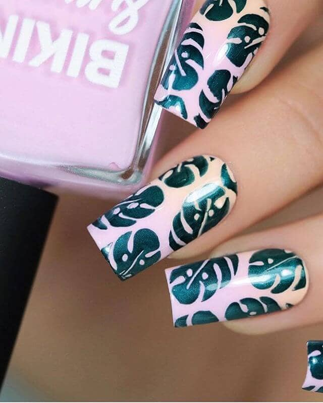 Asian Inspired Nature Design Beautiful Nails