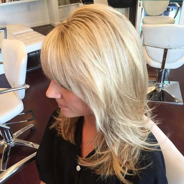 Frosty Angular Bangs for Blonde Bombshells