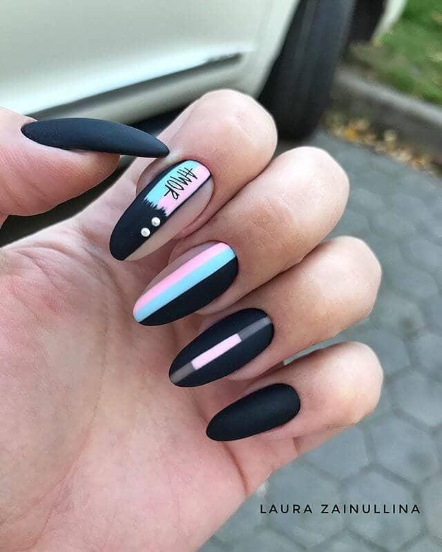 Super Artsy Multi-Designed Matte Nails