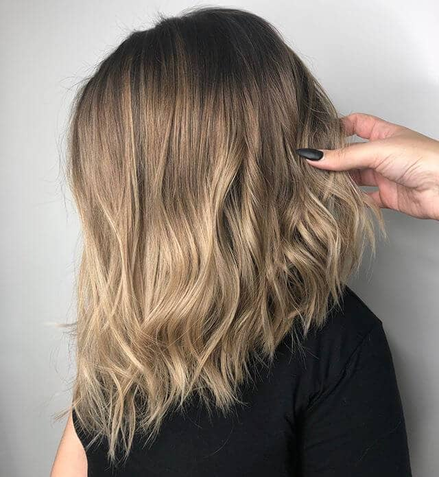 Textured Long Bob with Emphasized Asymmetry