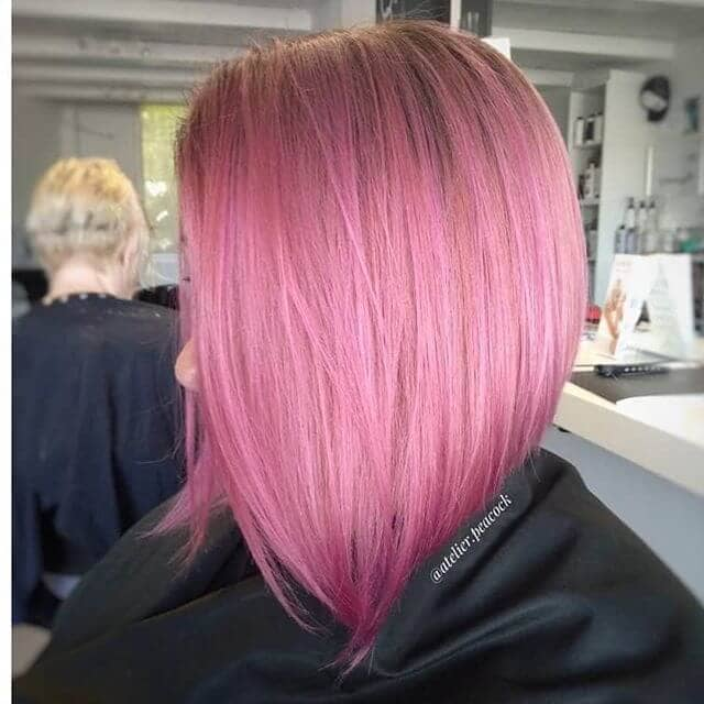 Rouge-Hued Hot Pink Haircut