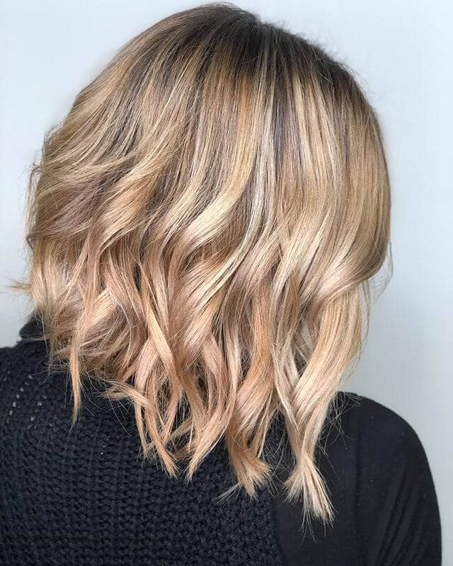 Cool Long Bob with Texturized Waves