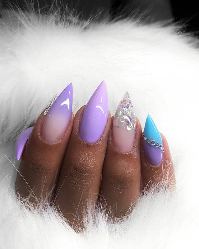 Ice Goddess of the North Pole Cute Nail Designs
