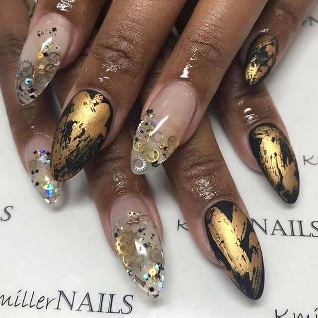 In the Nick of Time Nail Art