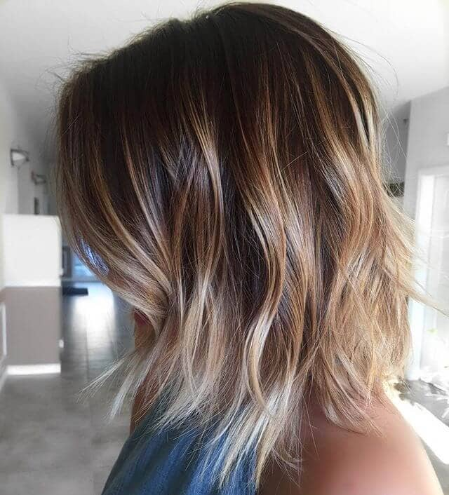 Stylish Long Bob with Frosted Tips