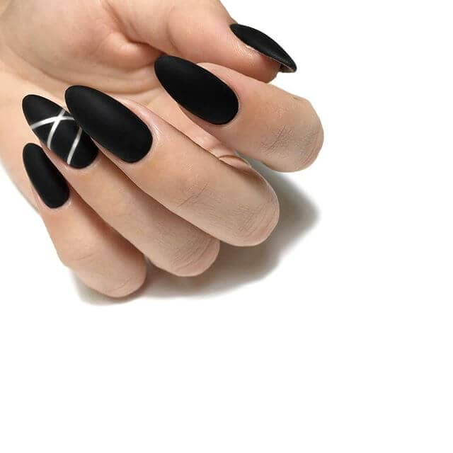Chic and Hip Matte Black with Silver Accent
