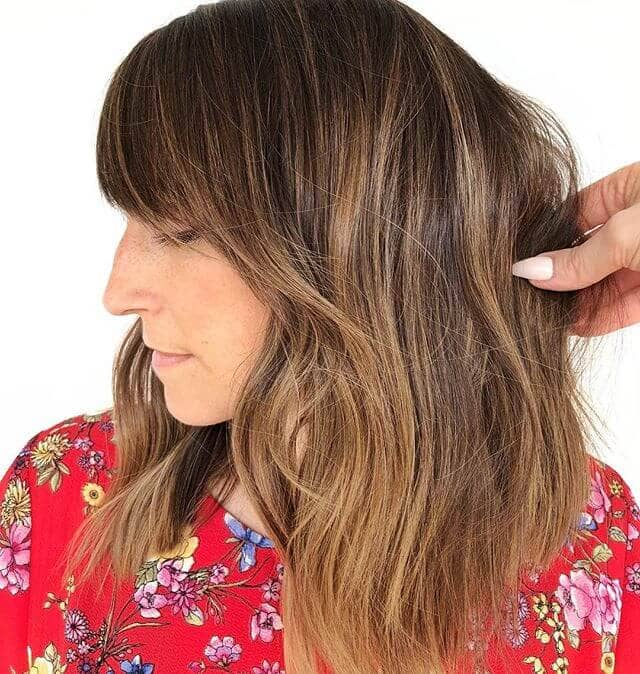 Simple and Straight Long Bob with Bangs