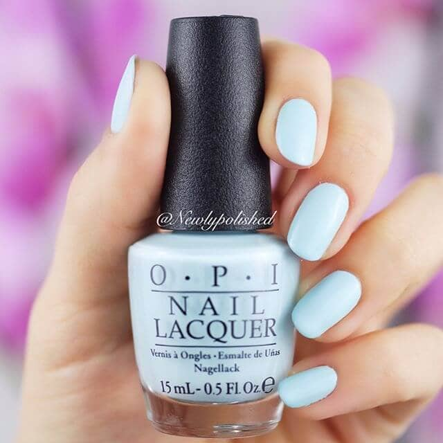 Simply Sweet Baby Blue Matte Nails