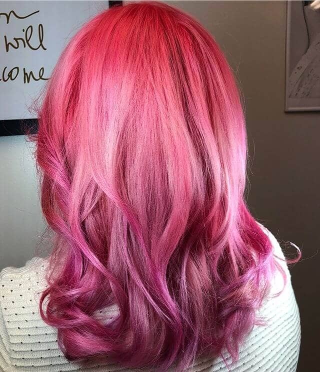 Punchy Pink and Lavender Ombre
