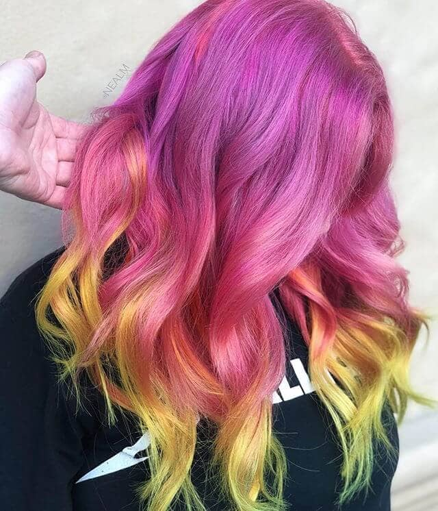 Vibrant Multi-Colored Modern Hairstyle