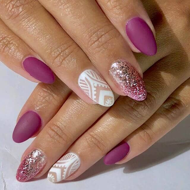 Good Time Glitter and Lace Nails